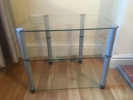 FREE glass music/tv stand