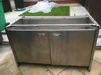 Stainless steel Catering cupboard with removable table top