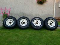 Land rover defender wheels and tyres 265 75 16 bfg mud terrain