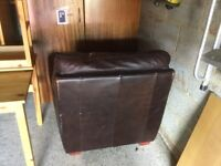 Leather Armchair in poor condition