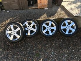 """17"""" Alloy wheels and winter tyres to fit Audi A3 (2015)"""