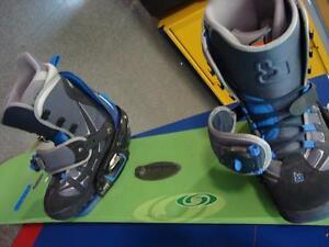 Planche à neige, bottes et fixations - Snowboard