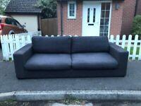 Bo Concept Cenova 3-4 Seater Grey Lux Fabric Sofa