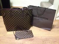 Louis Vuitton medium with purse and wallet