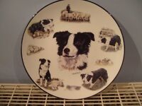 "Bradford Exchange plate 10"" Boarder Collie (All in a days work)"