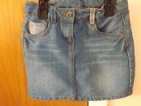 Girls Denim Skirt Age 9-10