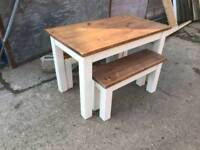 TABLE AND BENCH SET BEFORE CHRISTMAS