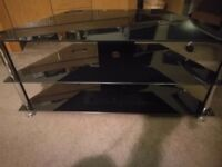 Glass tv stand vg condition