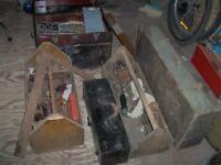5 Antique Tool boxes Tool Chests filled with old tools +more