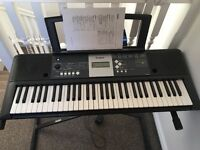 YAMAHA YPT-230 PORTABLE KEYBOARD - COMES WITH STAND AND POWER CABLE