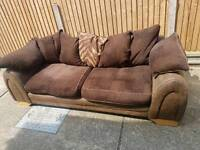 Large 2 seater sofa free delivery