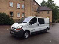 Renault Trafic 1.9 dci long wheel base crew cab crew van 6 seater similar to vivaro