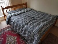 Strong King size wooden bed