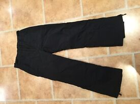 Ladies black Ski trousers size 12 hardly worn very good condition. Alpine make.