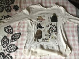 Girls Mayoral long sleeve T- Shirt Age 10 140 cm