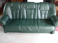 Soft Leather 3 Seater With Additional Matching Chair