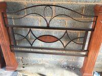 Cast iron Oak king size bed Grandeur