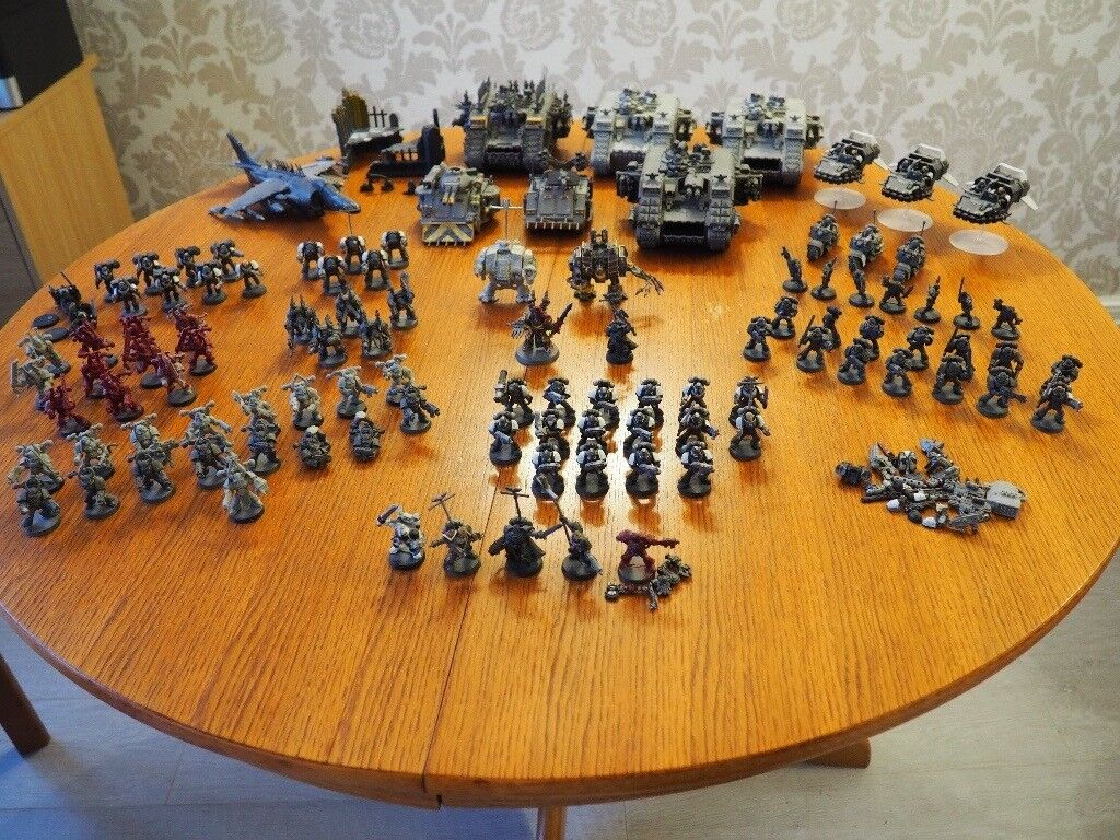 Warhammer 40000 Chaos Space Marines Army 40k (cost over £700)
