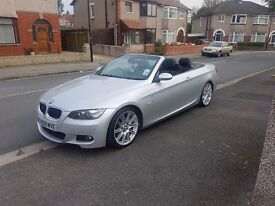 ** BMW 320d MSport Convertible 09 Silver **