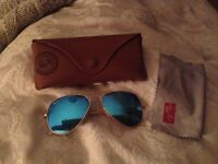 Blue ray ban aviator sunglasses new