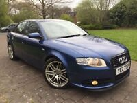 """2007 Audi A4 2.0 TDI S Line special edition 170 Bhp leather seats parking sensors 18"""" RS4 wheels"""