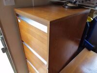 2 x Teak Filing Cabinets - Industrial Cabinets - HL and President £15 each Danish Style