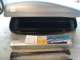 Citroen Xsara Picasso branded roof box and roof bars