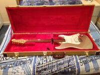Rare Silver Aria STG 004 Guitar, Plus Case