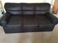 Black 3 seater sofa for sale.. soft fabric.