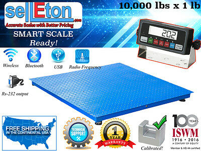 Industrial 40 X 40 Floor Scale Pallet Scale With Metal Indic. 10000 Lb X 1