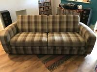 Wool Plaid 2 Seater Sofa and Chair