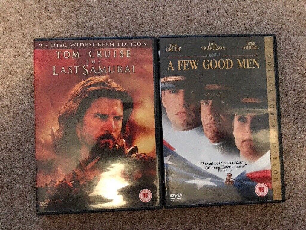 Tom cruise films - the last samurai and a few good men