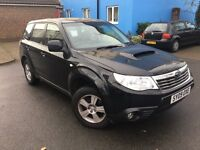 2009 Subaru Forester 2.0 D X 5dr Diesel 4X4 Black Ful Service History Smooth Drive Long MOT Good Car