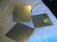 MIRROR TILES , 9 In all , EACH TILE 9 by 9 Inches square . MAKEa SQUAREor RECTANGLE