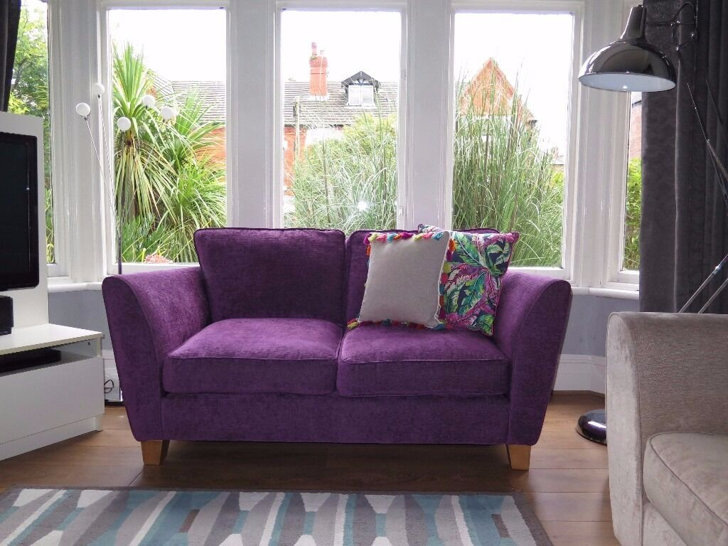 Purple SOFOLOGY 'Canterbury' 2 Seater Sofa RRP £625 | in New ...