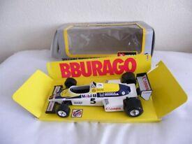 Nigel Mansell Williams 1-24 scale F1 car + rare sticker