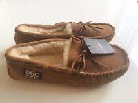Brand New Men's UGG Mocassins/ Slippers Size 13 - Sheepskin + sheep wool interior