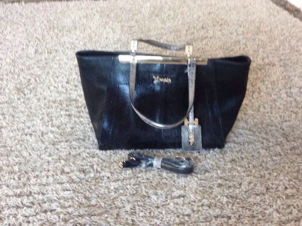 Black designer handbag