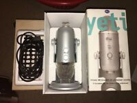 Genuine Blue Yeti USB Professional 4 Setting Infinite Microphone - Silver