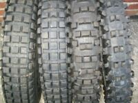 Trial, trail and MotoX part worn tyres