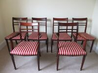 Beautiful Extending Mahogany Dining Table and Chairs