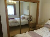 mirrored wardrobe doors set of 3 £100