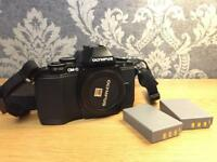 Olympus omd em10 with 45mm 1.8 and the 14-42 pancake lens