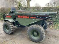 thwaites 4000 2ton dumper all wheel drive
