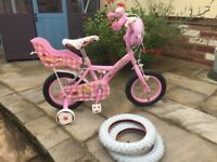 """Apollo Cupcake 12"""" kids bicycle, teddy carrier, bag and bell, with proper tyres"""