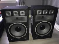 2 x SKYTEC SPEAKERS 1000W