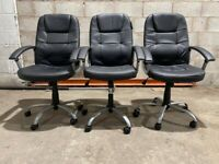 Habitat Walker Height Adjustable Office Chair - Black