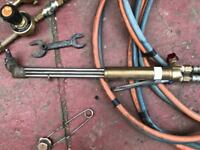 Cutting Torch with pipes and gauges