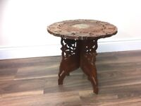 Vintage Folding Carved Plant Stand / Table