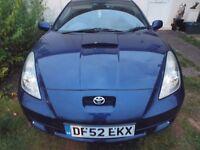Toyota Celica VVTI 1.8 52 plate in blue.